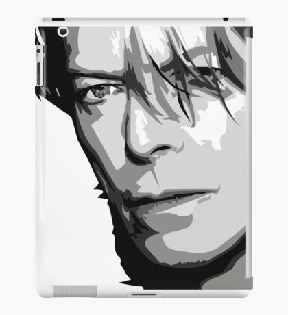Black and White Vector Portrait of a music legend iPad Case/Skin