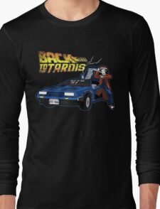 Doctor Who Back The Future Long Sleeve T-Shirt