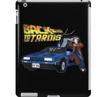 Doctor Who Back The Future iPad Case/Skin
