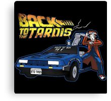 Doctor Who Back The Future Canvas Print