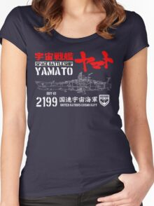 CLASSIC JAPAN ANIME SPACE BATTLESHIP YAMATO STAR BLAZERS COSMO NAVY 2199 Women's Fitted Scoop T-Shirt