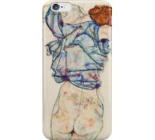 Egon Schiele - Woman Undressing. Schiele - woman portrait. iPhone Case/Skin