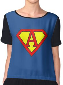 A letter in Superman style Chiffon Top