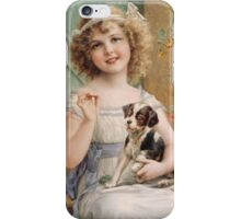 Emile Vernon - Waiting For The Vet. Emile Vernon - girl portrait. iPhone Case/Skin