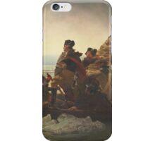 Emanuel Gottlieb Leutze - Washington Crossing The Delaware 1851. Gottlieb Leutze - man portrait. iPhone Case/Skin