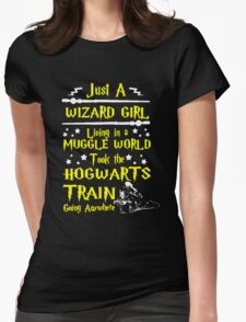 Wizard Girl Womens Fitted T-Shirt