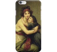 Elisabeth Louise Lebrun - Madame Vigee-Lebrun And Her Daughter.  Lebrun - mother with kid. iPhone Case/Skin