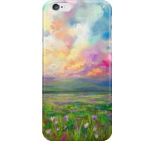 Colourful Cloudy Sky Sunset Landscape Painting iPhone Case/Skin