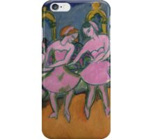 Ernst Ludwig Kirchner - Six Dancers.  Kirchner - ballet. iPhone Case/Skin