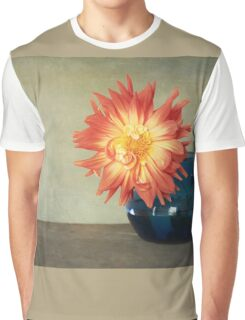 Orange Dahlia Graphic T-Shirt