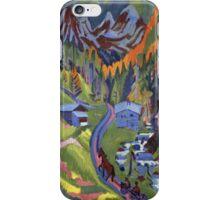 Ernst Ludwig Kirchner - Sertig Path In Summer.  Kirchner - mountains landscape. iPhone Case/Skin