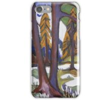 Ernst Ludwig Kirchner - Mountain-Early Spring With Larchen.  Kirchner - forest view. iPhone Case/Skin