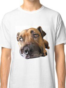 Puppy Dog Vector Portrait Classic T-Shirt