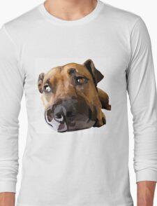 Puppy Dog Vector Portrait Long Sleeve T-Shirt