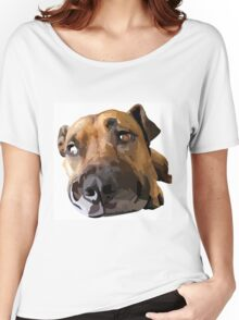 Puppy Dog Vector Portrait Women's Relaxed Fit T-Shirt