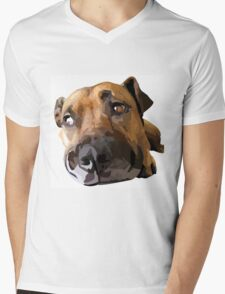 Puppy Dog Vector Portrait Mens V-Neck T-Shirt