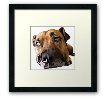 Puppy Dog Vector Portrait Framed Print