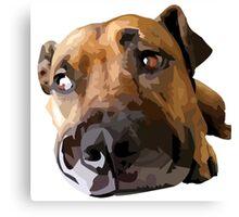 Puppy Dog Vector Portrait Canvas Print