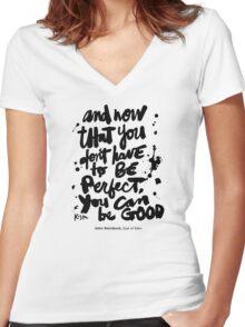 Be Good : Light Women's Fitted V-Neck T-Shirt