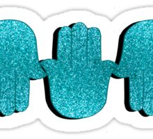 Teal Glitter Hamsas Sticker