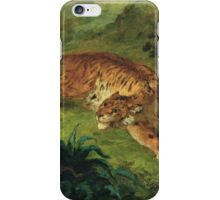 Eugene Delacroix  - Tiger And Snake.  Delacroix ,Tiger  Snake. iPhone Case/Skin