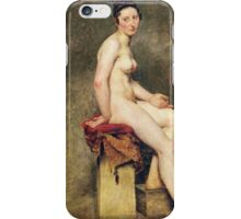 Eugene Delacroix  - Seated Nude, Mademoiselle Rose.  Delacroix  - woman portrait. iPhone Case/Skin