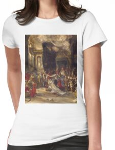 Eugene Isabeyr - A Royal Marriage Scene 1820 - 1886.  Isabeyr , people portrait. Womens Fitted T-Shirt