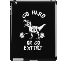Go Hard or Go Extinct (White T-Rex Deadlift) iPad Case/Skin