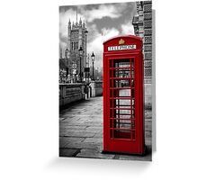London: Red Phone Booth Greeting Card