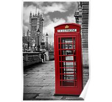 London: Red Phone Booth Poster