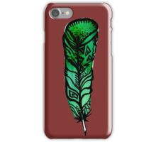 Forgotten Green Feather iPhone Case/Skin