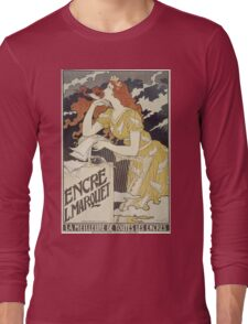 Eugene Samuel Grasset  - Encre L. Marquet 1892. Eugene Samuel Grasset  - woman portrait. Long Sleeve T-Shirt