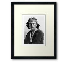 Navajo Boy by Karl Moon Framed Print