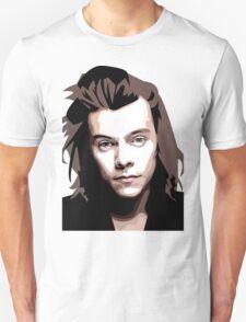 Long hair Vector portrait Unisex T-Shirt