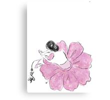 Flower Pink Ballerina Canvas Print