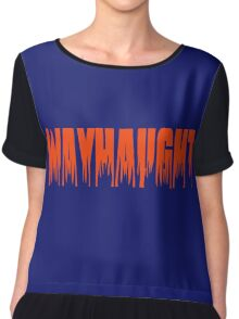 WayHaught flaming text design Chiffon Top