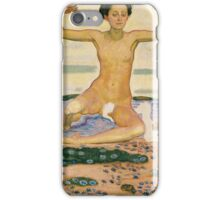 Ferdinand Hodler - The Day 1904. Hodler - woman portrait. iPhone Case/Skin