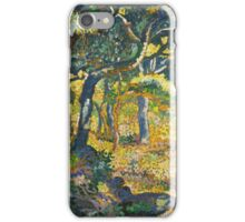 Ferdinand Hodler - Landscape Of The Swiss Alps 1918. Hodler - forest view. iPhone Case/Skin