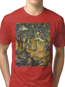 Ferdinand Hodler - Landscape Of The Swiss Alps 1918. Hodler - forest view. Tri-blend T-Shirt