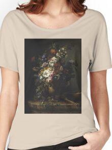 Francesc Lacoma Fontanet  - Gerro Amb Flors. Fragonard - still life with flowers. Women's Relaxed Fit T-Shirt