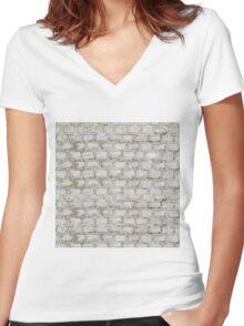 Brick blocks Women's Fitted V-Neck T-Shirt