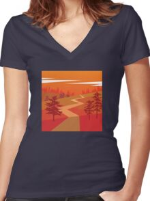 My Nature Collection No. 18 Women's Fitted V-Neck T-Shirt