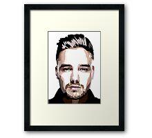 Short hair vector portrait Framed Print