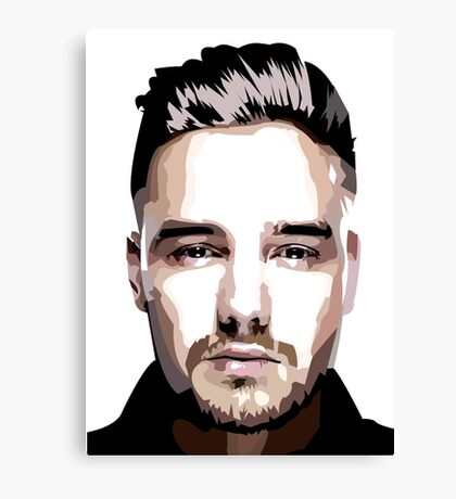 Short hair vector portrait Canvas Print