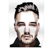 Short hair vector portrait Poster