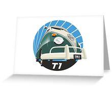 VW Type 2 Transporter T1 green Greeting Card