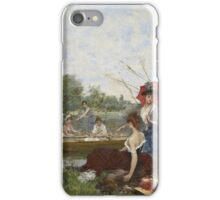 Francesco Miralles Galaup - Boating 1888.  Miralles Galaup - woman portrait. iPhone Case/Skin