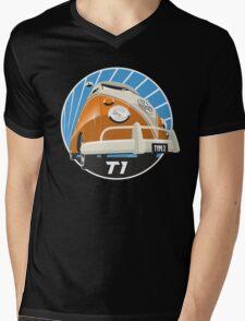 VW Type 2 Transporter T1 orange Mens V-Neck T-Shirt