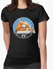 VW Type 2 Transporter T1 orange Womens Fitted T-Shirt