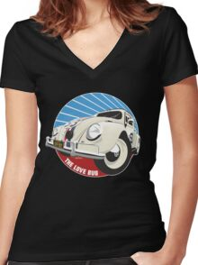 Herbie the Love Bug Women's Fitted V-Neck T-Shirt